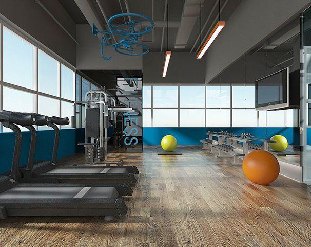 办公室健身区设计实景图