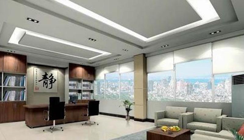 铝(钢)网格天花一般用在过道多,办公室中吊顶和员工活动区域中也可以