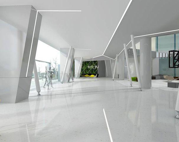 接待大厅右侧装修设计实景图