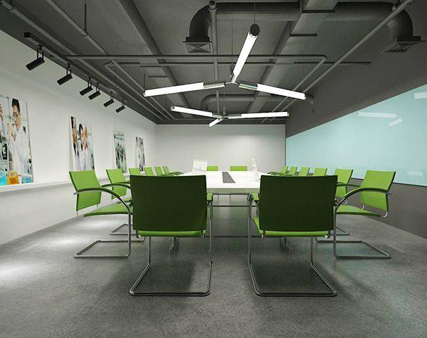 宝晶生物会议室装修设计实景图