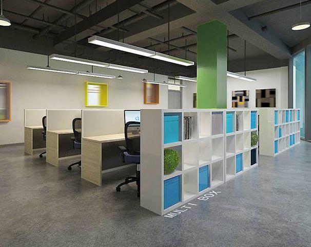 办公室员工区域装修设计实景图