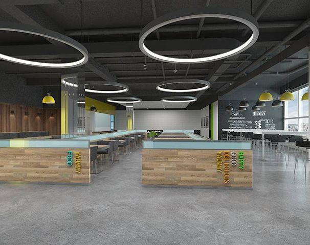 公司食堂装修设计实景图