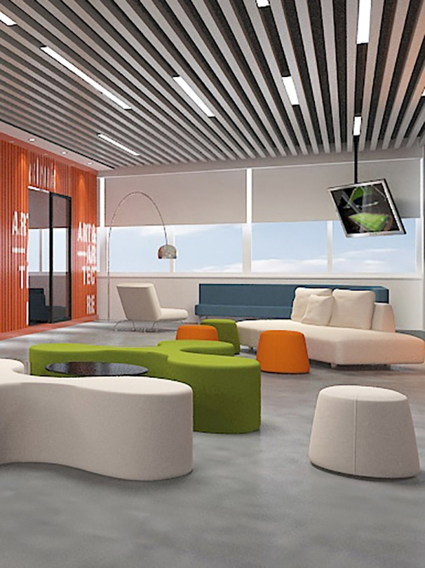 办公室休闲区设计实景图