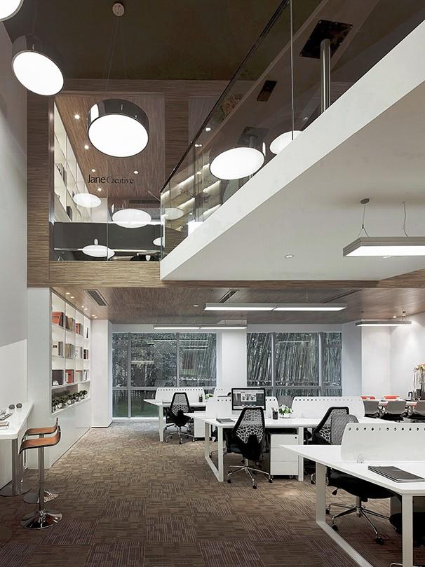 复式办公室设计实景图