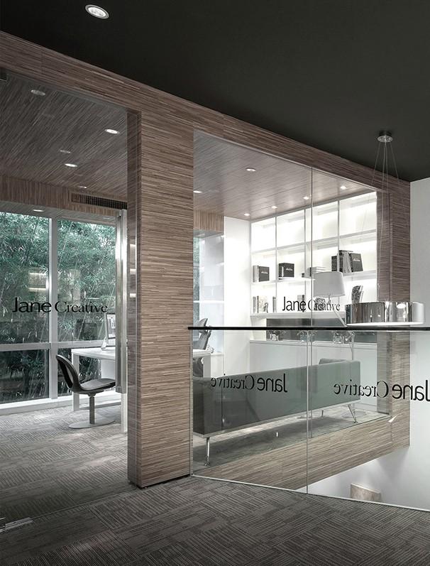 透光玻璃办公室设计实景图