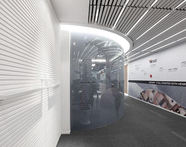 办公大门入口设计实景图