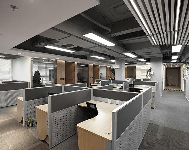办公室工作区域装修设计实景图