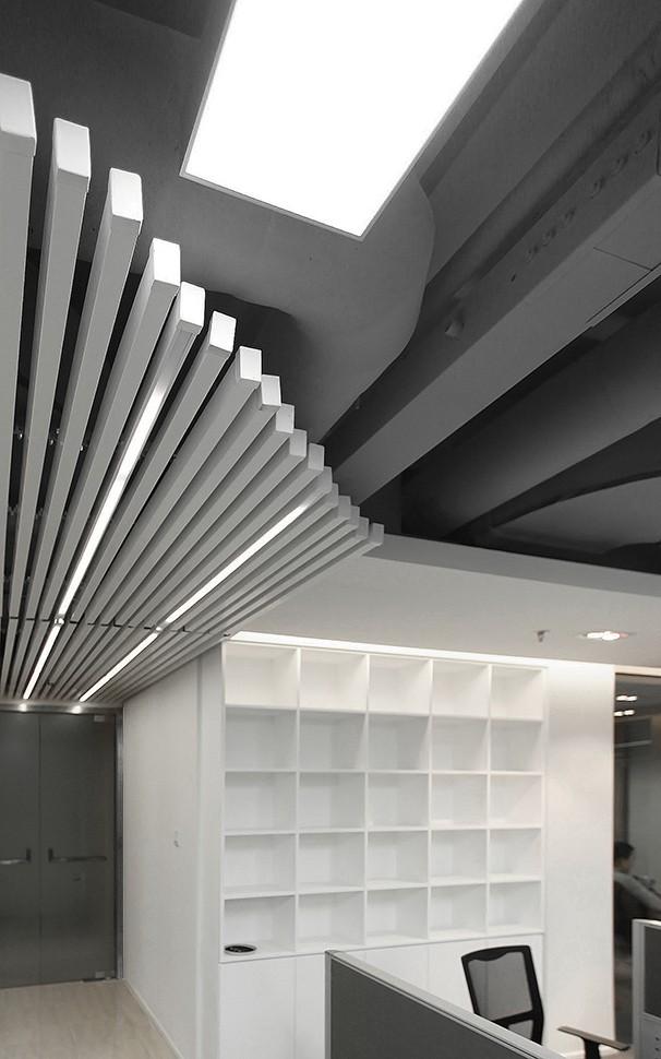 办公室天花板设计实景图