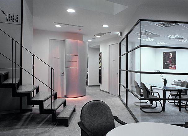 几何造型办公室设计实景图