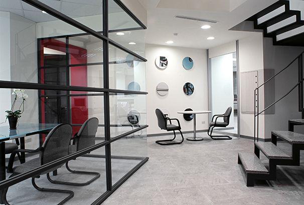 洽谈区办公室装修实景图
