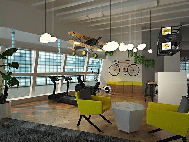 休闲区办公室装修实景图