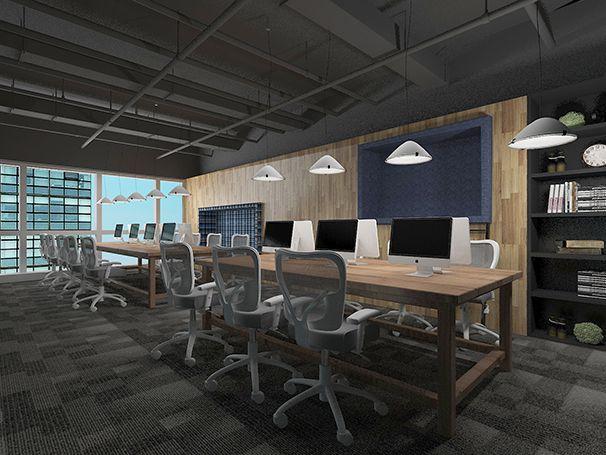 办公区办公室设计实景图