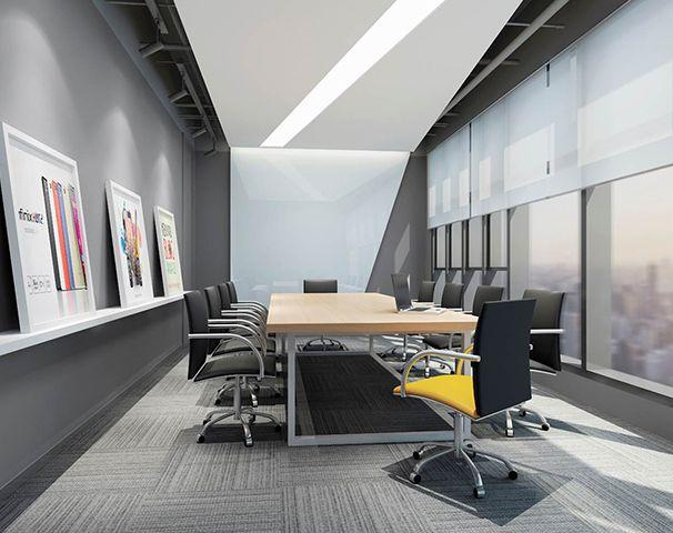 小会议室办公室装修实景图