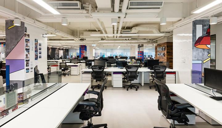 时尚、干练的上海办公室装修风格比较受欢迎