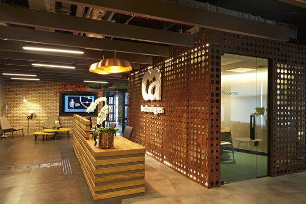 开放式办公室设计的灵活办公