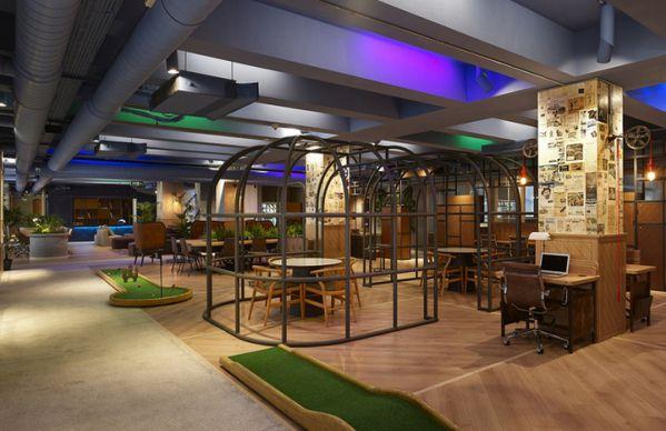 绿色办公室设计下的灵活空间
