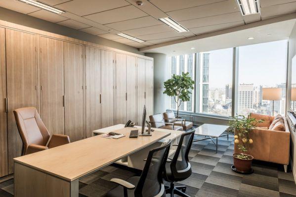 上海办公室装修中家具颜色搭配的问题