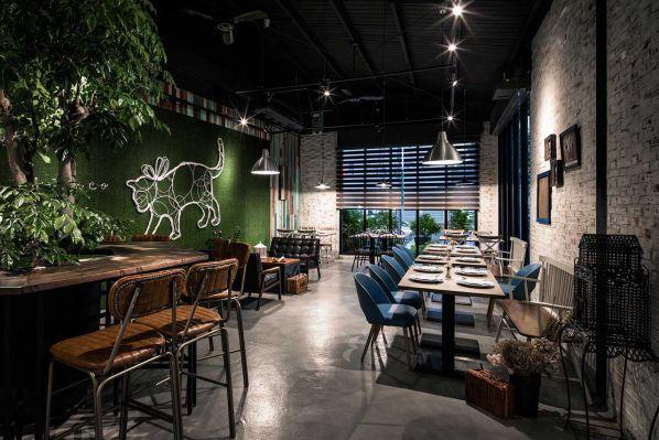 欧洲复古风格咖啡馆的办公室设计