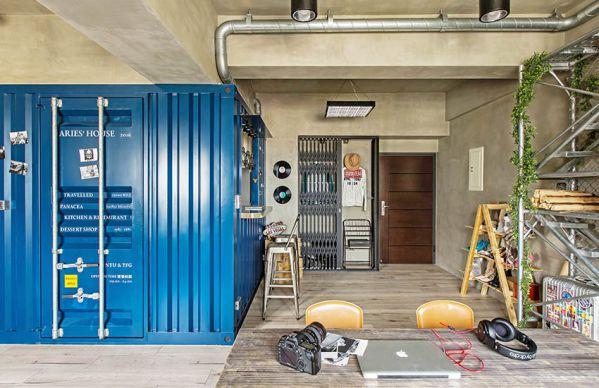 私人公寓办公室装修设计的工业风