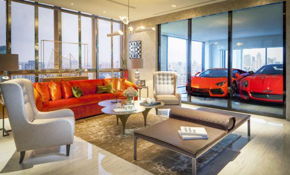 豪华办公室设计打造的超跑公寓