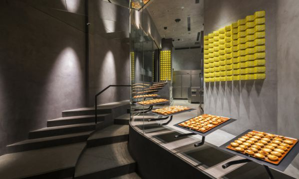 工业风办公室设计的芝士蛋挞品牌店