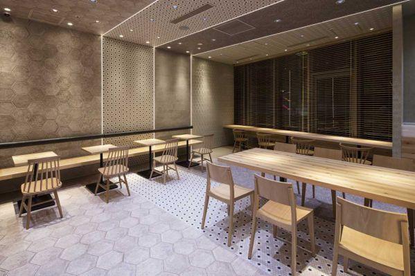 新日式茶室办公室设计中材质的拼接