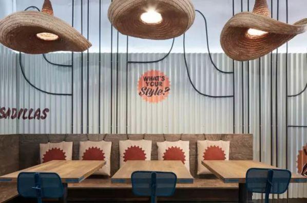 餐厅办公室装修设计的仙人掌主题