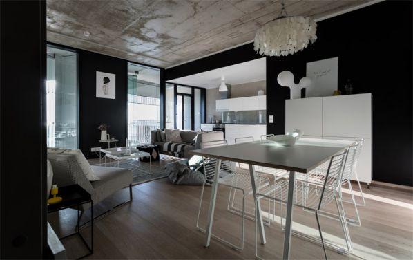 办公室装修设计改造下工业风公寓