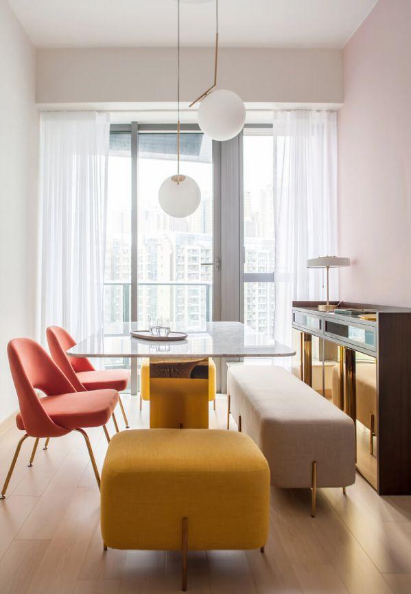 办公室设计下的公寓色彩的冲撞对比