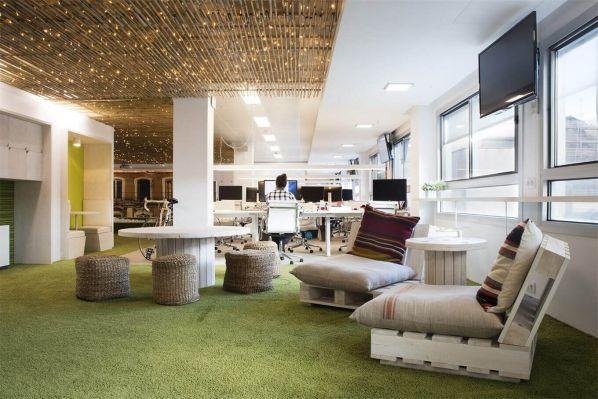 共享办公室装修设计的地中海风格