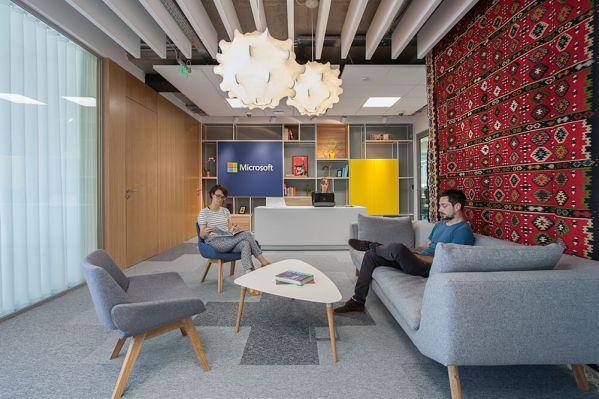 微软办公室装修设计的特色表达