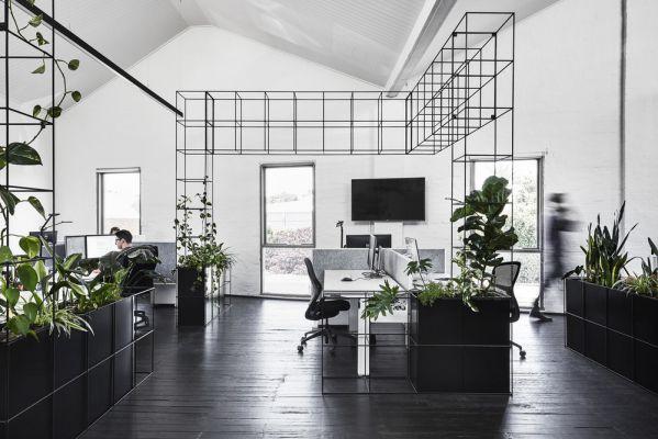 办公室装修设计来满足你的黑白控