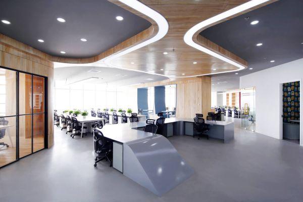办公室装修打造的互联网金融公司