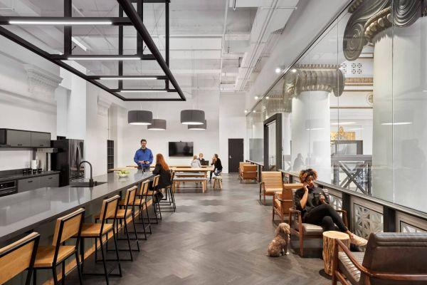 办公室装修改造的科技公司总部