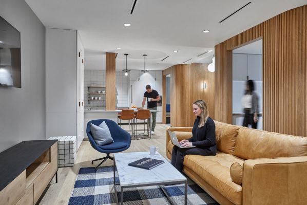 办公室装修的舒适现代工业空间