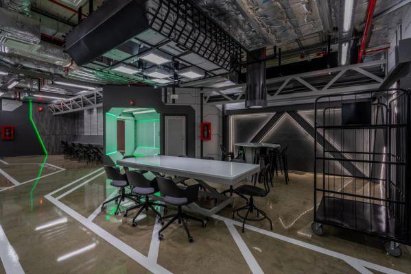 办公室装修打造的科幻主题办公空间